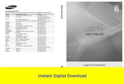 Samsung LED TV Series 6 User Manual (Download Only)