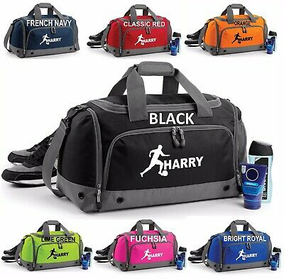 Personalised Holdall Bag Add Name Football Boys Soccer Rugby Kids Birthday Gift