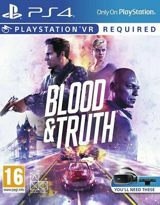 Blood and Truth (PS4 PSVR)  BRAND NEW AND SEALED