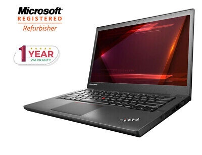 "Lenovo Thinkpad T440P Intel Core I5 128Gb Solid State Ssd 8Gb Ram 14"" Laptop Pc"
