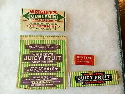 Vintage Wrigley S Chewing Gum Coupons And Wrappers 25 00 Picclick
