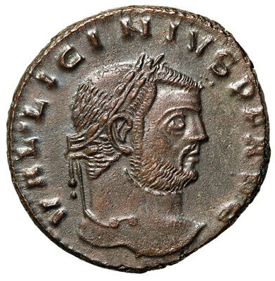 "Licinius I AE Follis ""Portrait with Bald Spot / Genius"" Thessalonica Good EF"