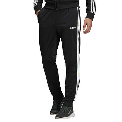 Adidas Pantaloni da Uomo Essentials 3-Stripes Tapered Tricot Nero Codice DQ3076