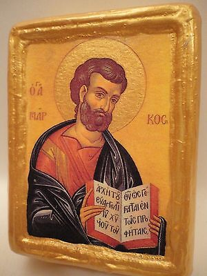 Saint Mark The Evangelist Byzantine Greek Orthodox Religious Icon Wood Block