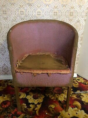 Vintage Lloyd Loom Whicker Style Comode Chair-great project