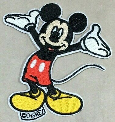 Parche Termoadhesivo | Mickey Mouse Disney | Bordado | 75x83 mm | Patch