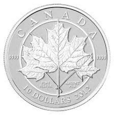 2012 Canada $10 Fine Silver Coin Maple Leaf Forever - coin only