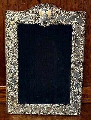 Beautiful Large English Antique Style Sterling Silver  Photo Frame Robert Hall