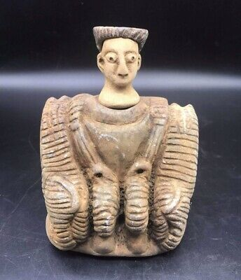 Museam Qulity Very Antique Pice Bactrain Lime Stone Male Figure Idol Statute