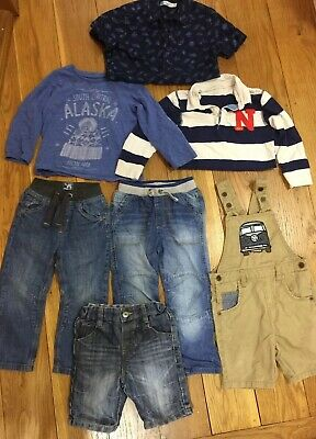 Bundle Boy Clothes Jeans Top Shorts Sz 2-3 Year Shirt Dungaree Trouser Next TU