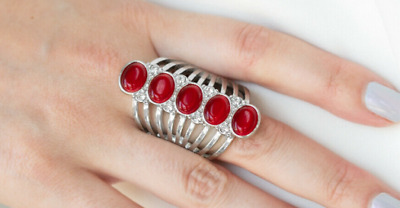 Paparazzi (Exclusive Life of the Party) Ring - BLING Your Heart Out - Red