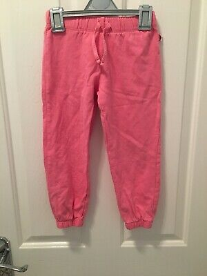 Mothercare Girl's Pink Cotton Jogging Bottoms Joggers - Age 4-5 years
