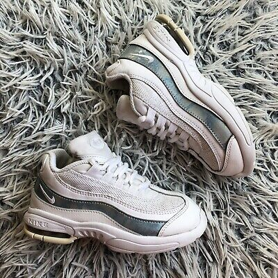 Nike Air Max 95 Girls White Trainers Size 9.5 Infant Good Condition