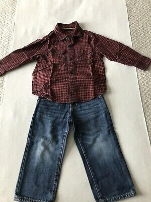 Gap Boys Winter Set Bundle Outfit Jeans Shirt 2 Years
