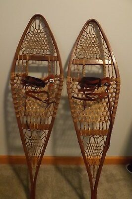 Antique Tubbs snow shoes, made in Maine, in good condition