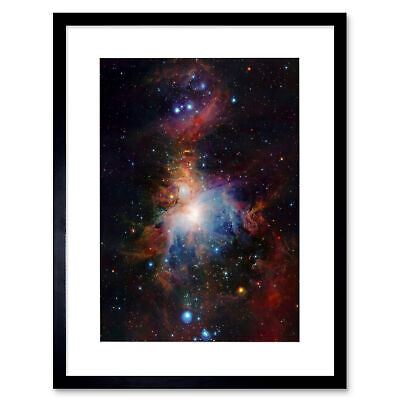 Space Infrared View Orion Nebula Framed Art Print Poster 12x16 Inch
