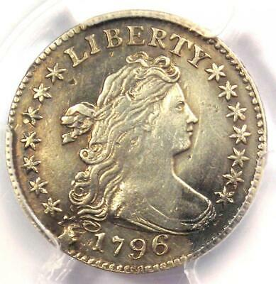 1796 Draped Bust Dime 10C Coin - Certified PCGS XF Details - First Dime Minted!
