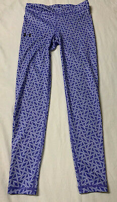 Under Armour Full Length Athletic Leggings, Girls Size Large, Purple