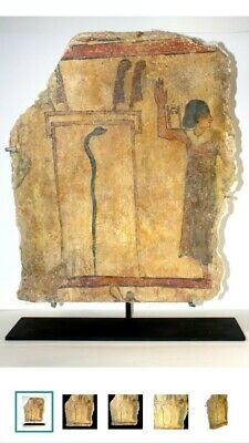 Ancient Egyptian Polychrome Wall Painting  New Kingdom, 19th-20th dynasty