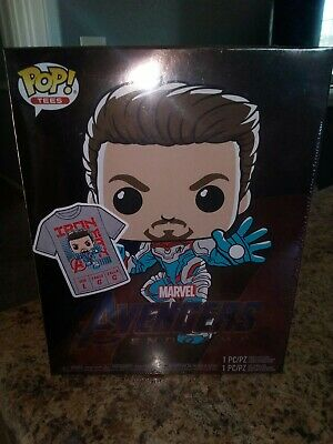 Funko Pop Avengers Endgame Iron Man Pop And Tee Target Exclusive GITD Size L