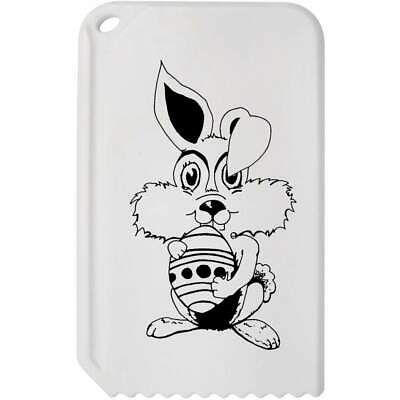 'Easter Bunny With Egg' Plastic Ice Scraper (IC00004803)