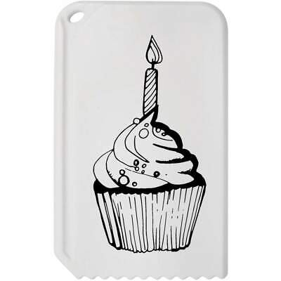 'Cupcake With Candle' Plastic Ice Scraper (IC00005608)
