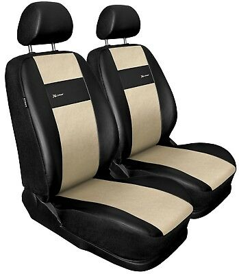 Front seat covers fit Dacia Duster black/beige  Leatherette