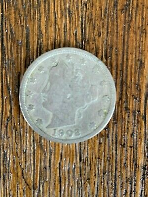 """Lovely 1902 Liberty Head """"V"""" Nickel Harder Date Coin With Very Ledgible Date"""