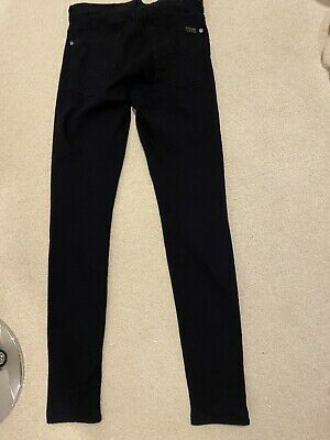 Ladies Seven For All Mankind Rinse Blstretch Skinny Fit Jeans Size 10 W28 L32
