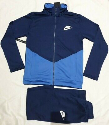 Nike Older Kids Junior Sportswear Tracksuit Blue Bv3617 410 Xl / 158-170Cm