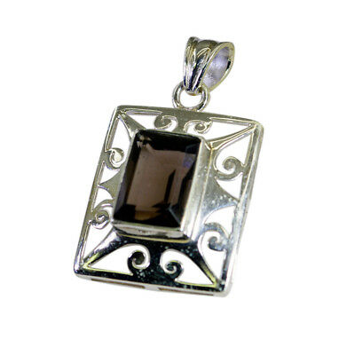 enticing Smoky Quartz 925 Sterling Silver Brown Pendant genuine wholesale US