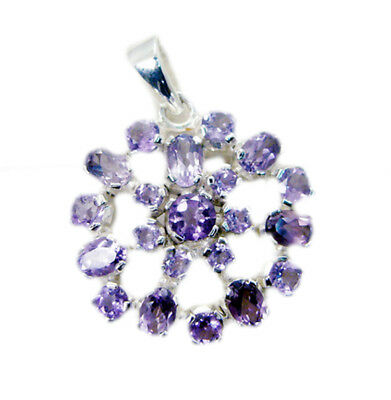 enticing Amethyst 925 Sterling Silver Purple Pendant genuine suppiler US gift