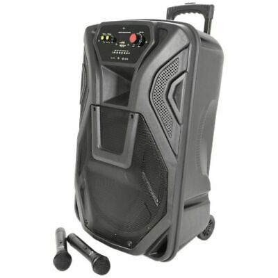 QTX Busker 15 PA With VHF Microphones Media Player & Bluetooth