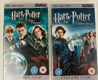 2 x Harry Potter UMDs for PSP - HP & Order of the Phoenix + HP & Goblet of Fire