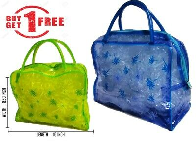 BUY ONE GET ONE FREE Aeroplane Toiletry Makeup Bag, for Unisex - Clear