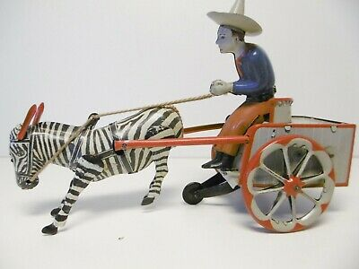 Antique Tin Toy Blech Lehmann  Kutsche 505 NA-NU um 1930