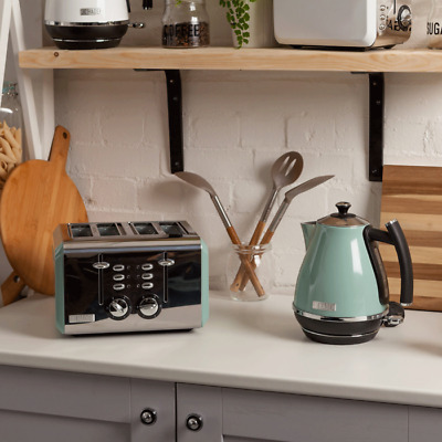 Haden Cotswold Sage Kettle and 4 Slice Toaster Set
