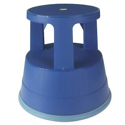 Office Depot Two Step Mobile Step Stool / Kick Stool - Blue [979155]