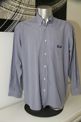 Pretty Shirt Blue Chequered Gingham Serge Blanco 15 Size XL Mint
