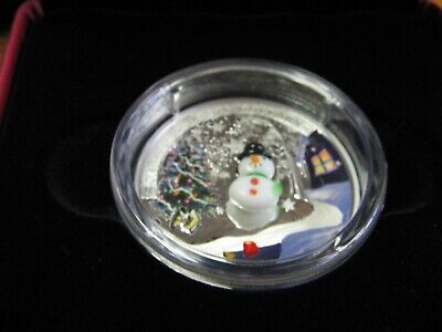 2014 'Snowman (Murano Glass)'  $20 Silver Coin 1oz . Low Start Auction-FREE SHIP