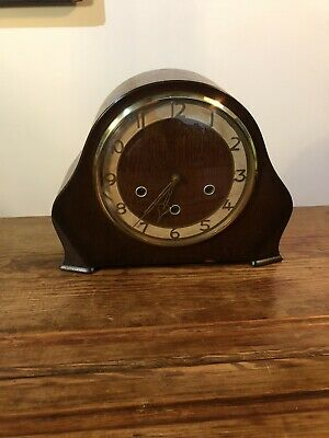 Vintage Mantle Clock , Art Deco Smiths English Clocks Westminster Chimes C-1940s
