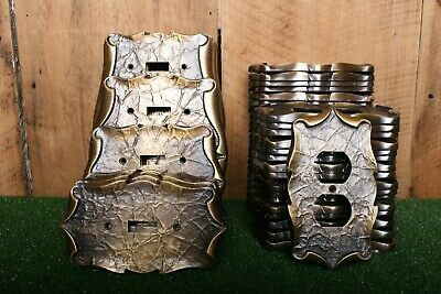 Lot of 60 Vintage AMEROCK Carriage House Brass Outlet Switch Plate Covers