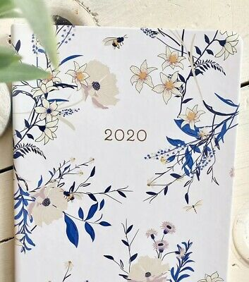 December 2020 Planner Agenda Weekly Monthly Flowers Bee Eccolo
