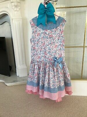 dolce petit Spanish Girls Dress Age 5/6 Years With Bow Very Good Condition Roman