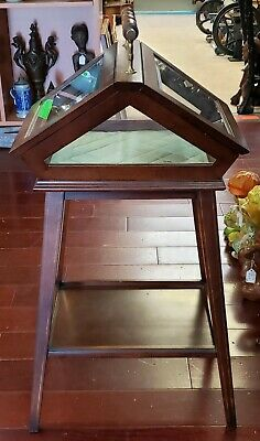 Vintage Antique Replica of Circa 1860-1880 English Cherry Wood Curio Table