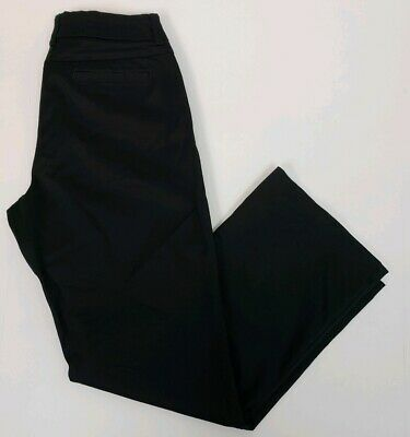 Lee Womens Pants Black Modern Series Curvy Fit Trousers No Gap Waistband 8 Short