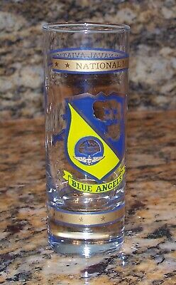 US Navy Blue Angels National Museum Of Naval Aviation Double-Shot Glass Florida