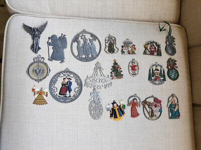20 Antique/Vtg~ Lead/Pewter Painted Christmas Ornaments~Germany~Kuhn Zinn~!