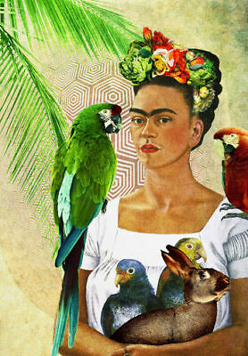 FRIDA KAHLO * Self Portrait  * A4 SIZE QUALITY CANVAS  PRINT