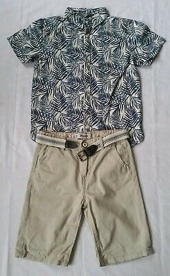 Boys chino short and shirt mix & match clothe bundle 8-9 years